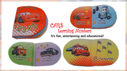 Buku bantal: Cars Learning Numbers