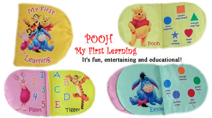 Buku bantal: Pooh My First Learning